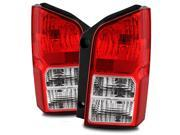 For 05-12 Nissan Pathfinder Red Clear Left/Right Tail Lights Rear Brake Lamps Replacement Assembly Set