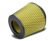 "3""""/3.5""""/4"""" Inlet/3"""" x 3.5"""" Hi-Flow Round Tapered Inverted Top Air Filter for Intake Yellow"" 9SIA4MJ78B3264"