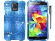 For Samsung Galaxy S5 Full Diamond Bling Design Hard Phone Protector Cover Case Accessory with Stylus Pen 9SIA4MS1HF6731