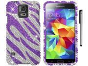 For Samsung Galaxy S5 Full Diamond Bling Design Hard Phone Protector Cover Case Accessory with Stylus Pen 9SIA4MS1HF6738