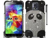 For Samsung Galaxy S5 Full Diamond Bling Design Hard Phone Protector Cover Case Accessory with Stylus Pen 9SIA4MS1HF6740