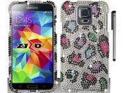 For Samsung Galaxy S5 Full Diamond Bling Design Hard Phone Protector Cover Case Accessory with Stylus Pen 9SIA4MS1HF6741