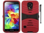 For Samsung Galaxy S5 Rugged Arched Design Armor Kickstand Phone Protector Cover Case with Stylus Pen 9SIA4MS1HK7254