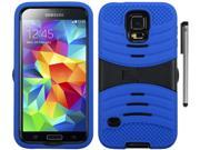 For Samsung Galaxy S5 Rugged Arched Design Armor Kickstand Phone Protector Cover Case with Stylus Pen 9SIA4MS1HK7256