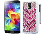 For Samsung Galaxy S5 Full Diamond Crystals Design Hard Phone Protector Cover Case Accessory with Stylus Pen 9SIA4MS1KP8425