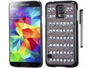 For Samsung Galaxy S5 Full Diamond Crystals Design Hard Phone Protector Cover Case Accessory with Stylus Pen 9SIA4MS1KP8428