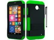 For Nokia Lumia 635 Infuse Design Duo Layer Hybrid Armor Phone Protector Cover Case Accessory with Stylus Pen