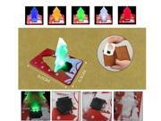 Komingo Pocket LED Lamp Mini LED Xmas Christmas Tree Light Folding Card Put in Wallet As Christmas Gift Red+blue+green 3-pc Pack (US Stock 4-5 Business Days Delivered)