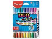 Washable Markers, Twin Tip, Ast HLX847010