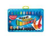 Soft Gel Crayons, 6/BX, Ast HLX836111