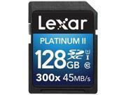 Lexar Platinum II 300x 128GB Secure Digital Extended Capacity (SDXC) Flash Memory Model LSD128BBNL300