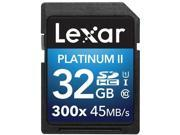 Lexar Platinum II 300x 32GB Secure Digital High-Capacity (SDHC) Flash Memory Model LSD32GBBNL300