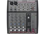 Phonic AM220 2 Mic/line 2 Stereo Compact Mixer, +48V DC Phantom Power