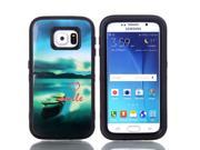JNTworld 3 in 1 High Impact PC+TPU Hybrid Boat Pattern Shockproof Tough Armor Heavy Duty Rugged Bumper Protective Case Cover Shell for Samsung Galaxy S6 9SIA4R13GV0059