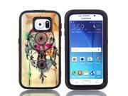 JNTworld 3 in 1 High Impact PC+TPU Hybrid Dreamcatcher Pattern Shockproof Tough Armor Heavy Duty Rugged Bumper Protective Case Cover Shell for Samsung Galaxy S6 9SIA4R13GV0779