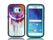 JNTworld 3 in 1 High Impact PC+TPU Hybrid Colorful Painting Shockproof Tough Armor Heavy Duty Rugged Bumper Protective Case Cover Shell for Samsung Galaxy S6