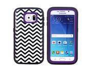 JNTworld 3 in 1 High Impact PC+TPU Hybrid Zebra stripes Pattern Shockproof Tough Armor Heavy Duty Rugged Bumper Protective Case Cover Shell for Samsung Galaxy S6
