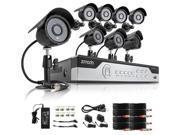 Zmodo 8CH 960H P2P Video Security System & 8 600TVL Sony CCD Cameras
