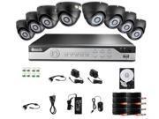Zmodo 8CH 960H P2P DVR 1TB HDD w/ 8 600TVL Outdoor CCD IR Cameras