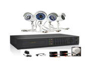 Nexhi NXH-DK-NARBZ4ZN-4CH Surveillance Camera Kit with 4-Channel H.264 DVR and 4 Indoor/Outdoor IR Cameras w/ 500GB Hard Drive