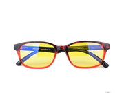 CORN YJ-1 Computer Reading Glasses Gaming eyewear with UV Protection, Anti Blue Rays, Anti Glare and Scratch Resistant Lens Red