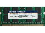 SUPER TALENT 1GB 200-Pin DDR2 SO-DIMM DDR2 533 (PC2 4300) Laptop Memory Model T533SB1G/E