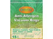15 Kenmore 50558, 5055, 50557 Allergen Filtration Canister Vacuum Bags