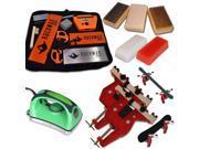 Ultimate Dual Snowboard Ski Race Kit Vise Iron 3 Brushes Tools Wax