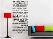 In This House We Are Family Wall Decals Quote Wall Stickers Decal Art Sticker