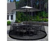 Pure Garden Outdoor Umbrella Screen Black