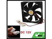 120mm x 25mm Plastic DC 12V 4 Pins Cooling Fan for Computer PC Case