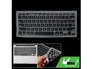 Black Silicone Dirt Resistant Computer Keyboard Skin 9SIV06N2E72930