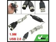 1.9M USB 2.0 to Audio MIDI Interface Adapter Spliter Cable