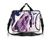 "13"" 13.1"" 13.3"" Laptop Purple Wheel Pattern Shoulder Handle Bag Case"