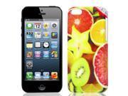 Multicolor Orange Slice Printed Hard IMD Back Case Cover for iPhone 5C