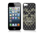 Mirror Polished Rhombus Print Plastic Back Case Cover Black for iPhone 5 5G 5S