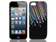 Colorful Star Meteor TPU Soft Plastic Case Cover for iPhone 5 5G 5th Gen