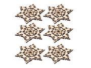 Restaurant Kitchen Wood Snowflake Hollow Out Design Nonslip Cup Coaster 6 Pcs 9SIA4SR72F5098