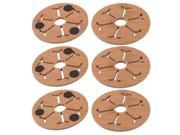 Wood Snowflake Pattern Hollow Out Design Heat Resistant Cup Coaster 6 Pcs 9SIA27C75G7560