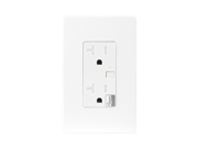 Enerwave ZW20R Z-Wave Wireless 120VAC 20A Tamper Resistant (TR) Duplex Receptacle with Two Free Wall Plates