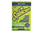 Sqwincher Fast Pack .6 Ounce Liquid Concentrate Packet Lemon Lime Electrolyte Drink - Yields 6 Ounces (50 Single Serving Packets Per Box) 9SIA4TR2KK0594