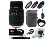 Sigma 70-300mm f/4-5.6 SLD DG Macro Lens for Nikon DSLR Cameras + Accessory Kit