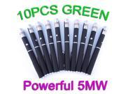 10PC Powerful Professional Green Laser Pointer Pen 5mw 532nm Visible Beam Light