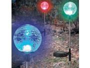 Solar Crackle Glass Ball Lights, a Pack of 3 pcs in a set. 9SIA4UB20W4836