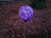6 Pack of Solar Mosaic Ceramic Glass Ball Crackle Lights-garden / pathway/ patio 9SIA4UB20W5002