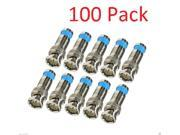 100 Pack BNC Male Waterproof Compression Connector for RG59 Coax Cable CCTV