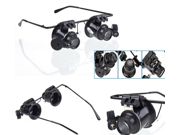 20X LED Light Double Magnifying Glasses Jeweler Watch Repair Magnifier Glasses Loupe New 9SIA4UB36E3004