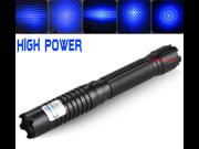 1W Powerful Military 450nm Blue Beam Light Laser Pointer Pen Lazer +STAR Cap