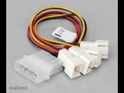 Akasa  AK-CB001 4-pin Molex to 4 x 3-pin Fan Socket Adaptor Cable