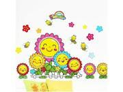 Bedroom a sitting room sofa bed dormitory smiling sunflower stickers The sun tracery wall stick XY8015 9SIV0A33GV6937